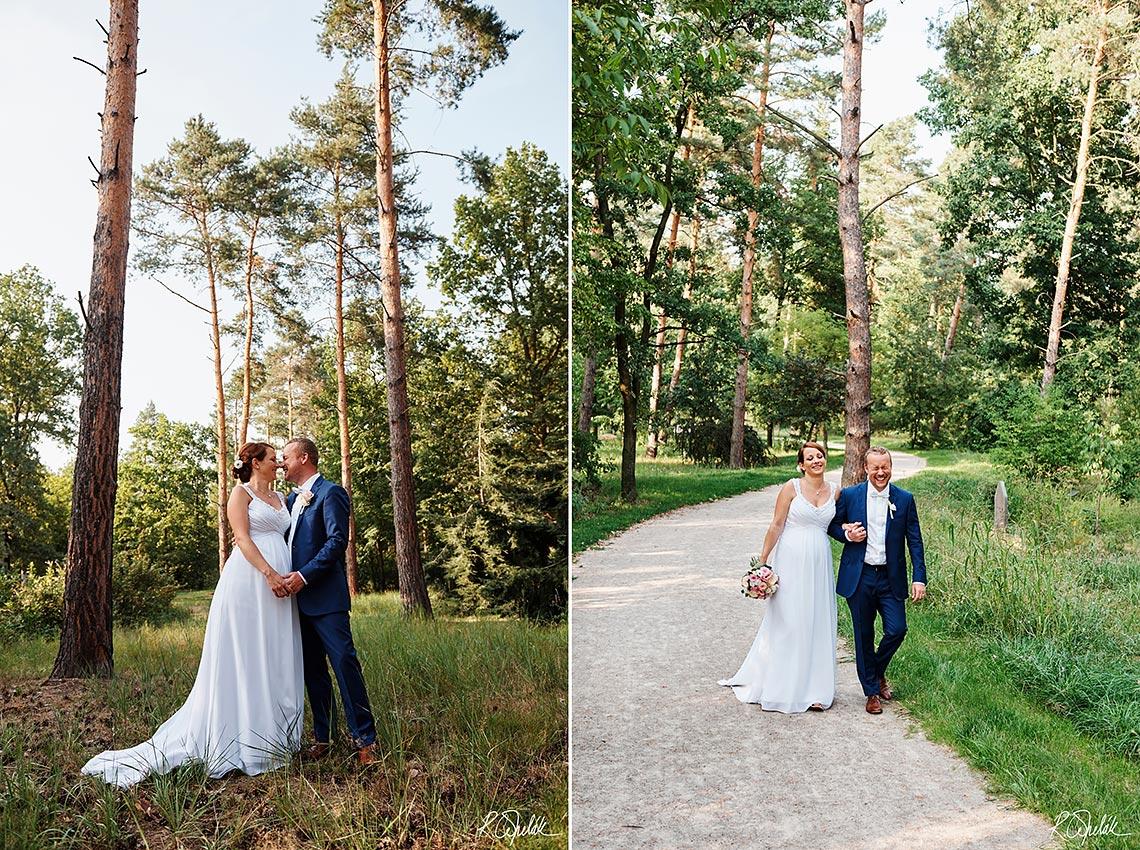 svatební fotografie v botanické zahradě v Praze