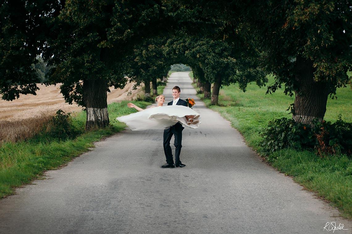 svatební fotografie novomanželů Telč
