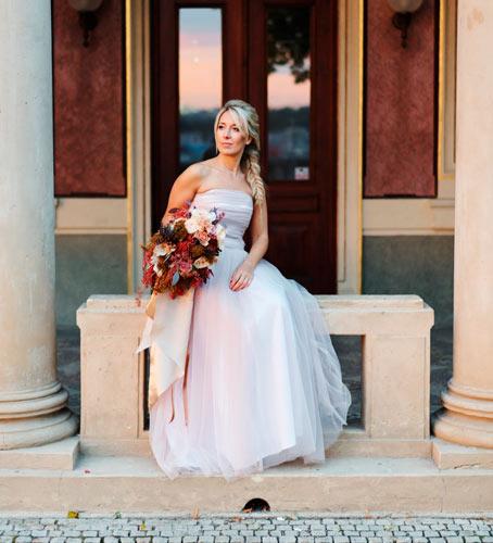 foto nevěsty na svatbě