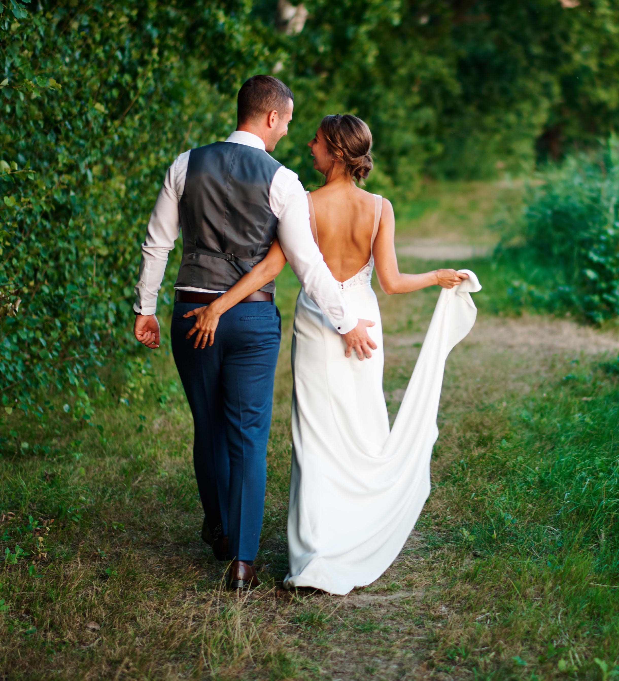 focení svatby v přírodě